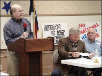 Don McElroy at a Tea Party meeting