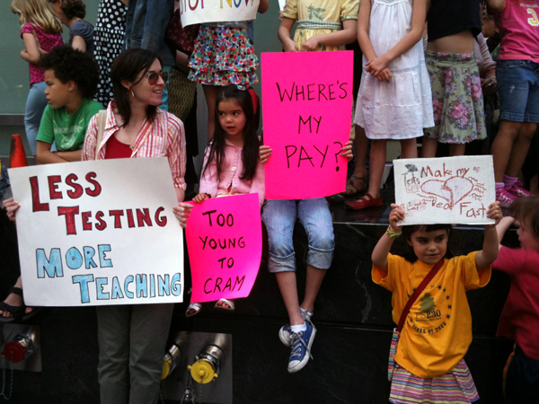 Parents protest Pearson, New York state's 'field-testing' of